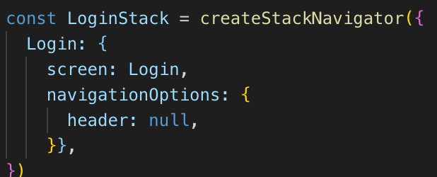 Stack Nativagor Example